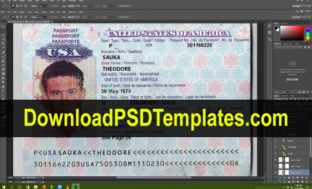 Us Passport Template Psd New Us Passport Template [download Fake Editable Psd File]