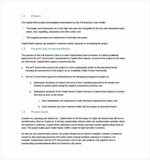 Use Case Documentation Template Inspirational 13 Business Case Templates Pdf Doc