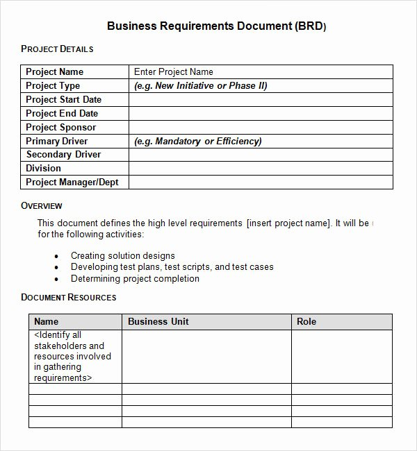 Use Case Documentation Template Lovely Sample Business Requirements Document 6 Free Documents In Pdf Word