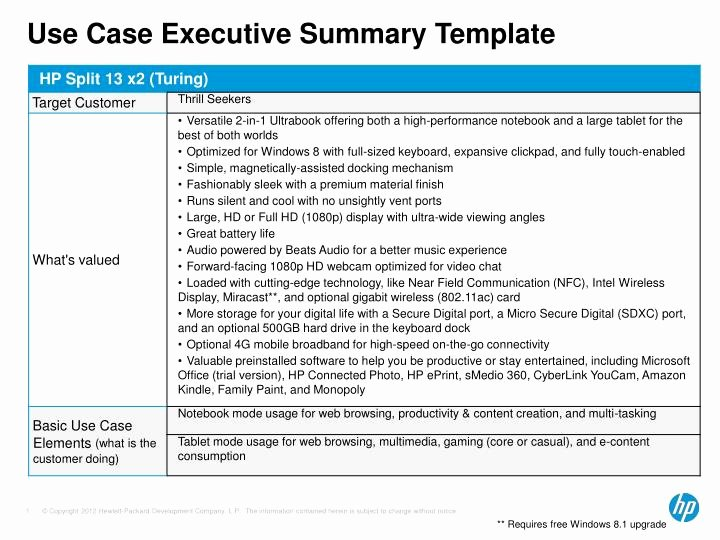Use Cases Template Excel Beautiful Ppt Use Case Executive Summary Template Powerpoint Presentation Id
