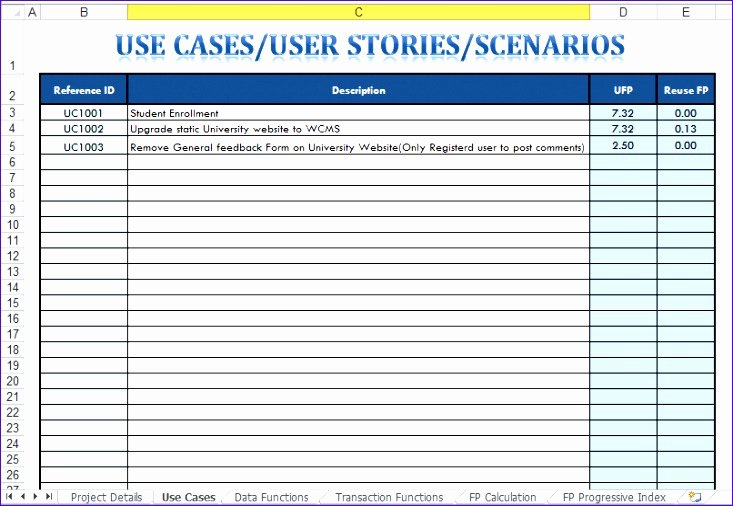 Use Cases Template Excel Best Of 10 Use Case Template Excel Exceltemplates Exceltemplates