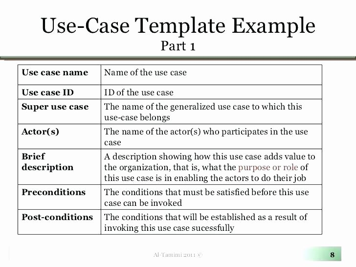 Use Cases Template Excel New Use Cases format