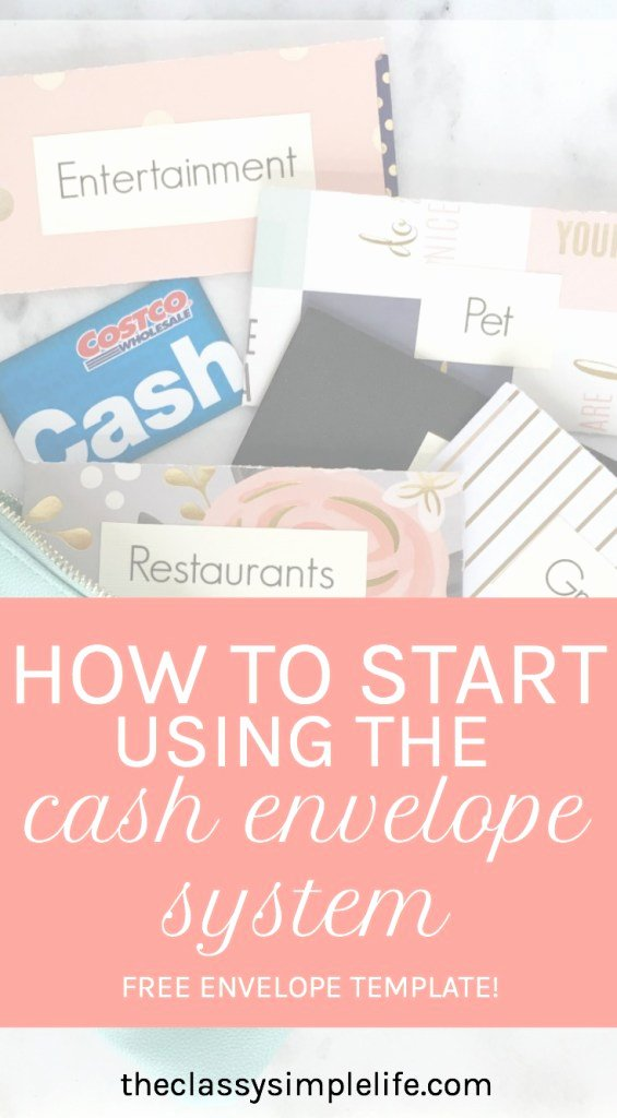 Use Of Funds Template Beautiful How to Start Using the Cash Envelope System Free Printable the Classy Simple Life