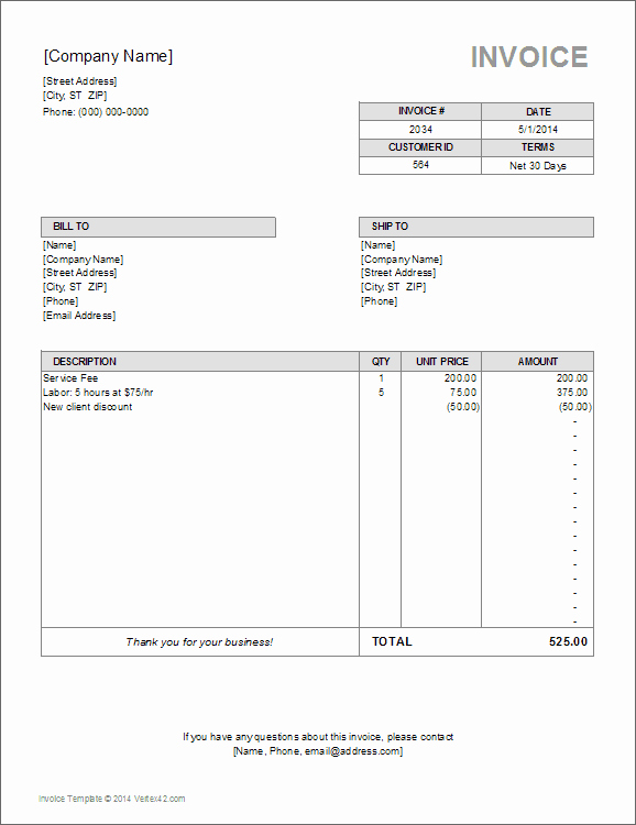Utility Bill Template Free Download New 10 Simple Invoice Templates Every Freelancer Should Use