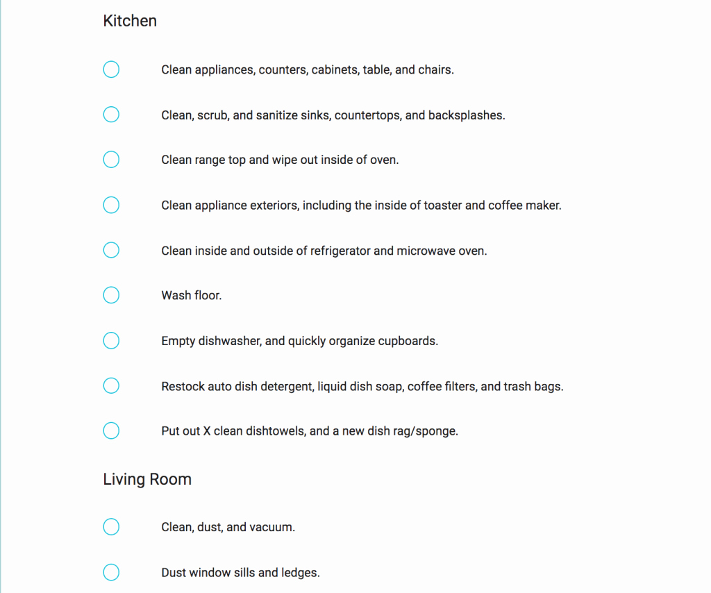 Vacation Rental Checklist Template Inspirational Vacation Rental Checklist Turnoverbnb