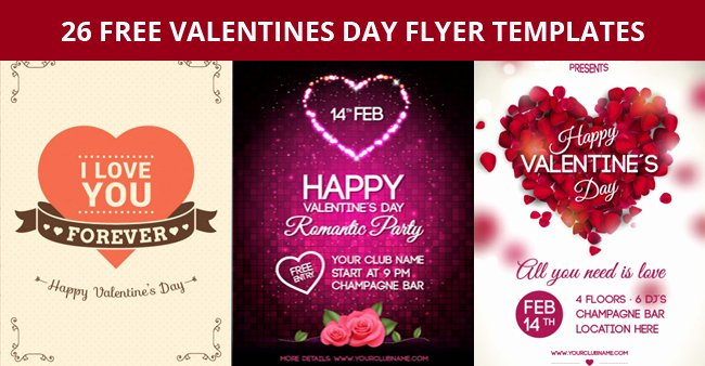 Valentines Day Flyer Template Free Beautiful 26 Free Valentines Day Flyer Templates for Download Designyep