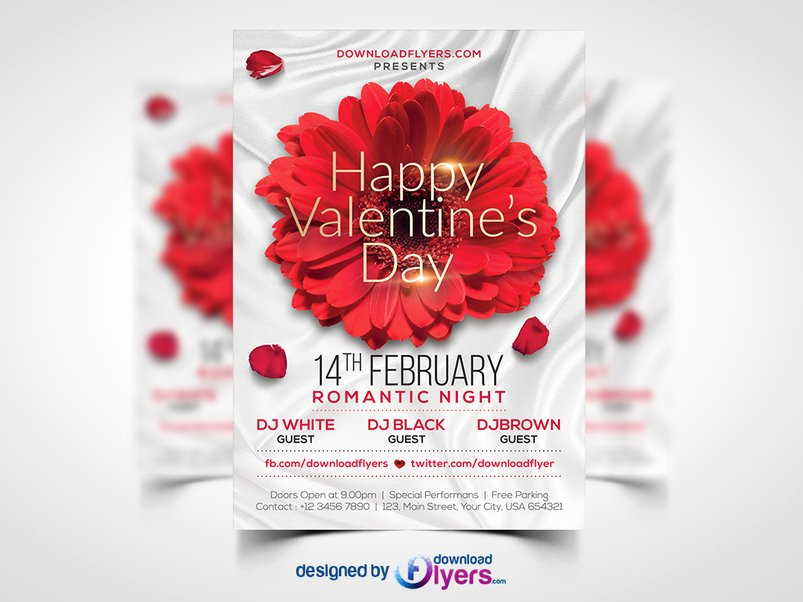 Valentines Day Flyer Template Free Beautiful 40 Creative Party Flyer Psd Templates Designazure