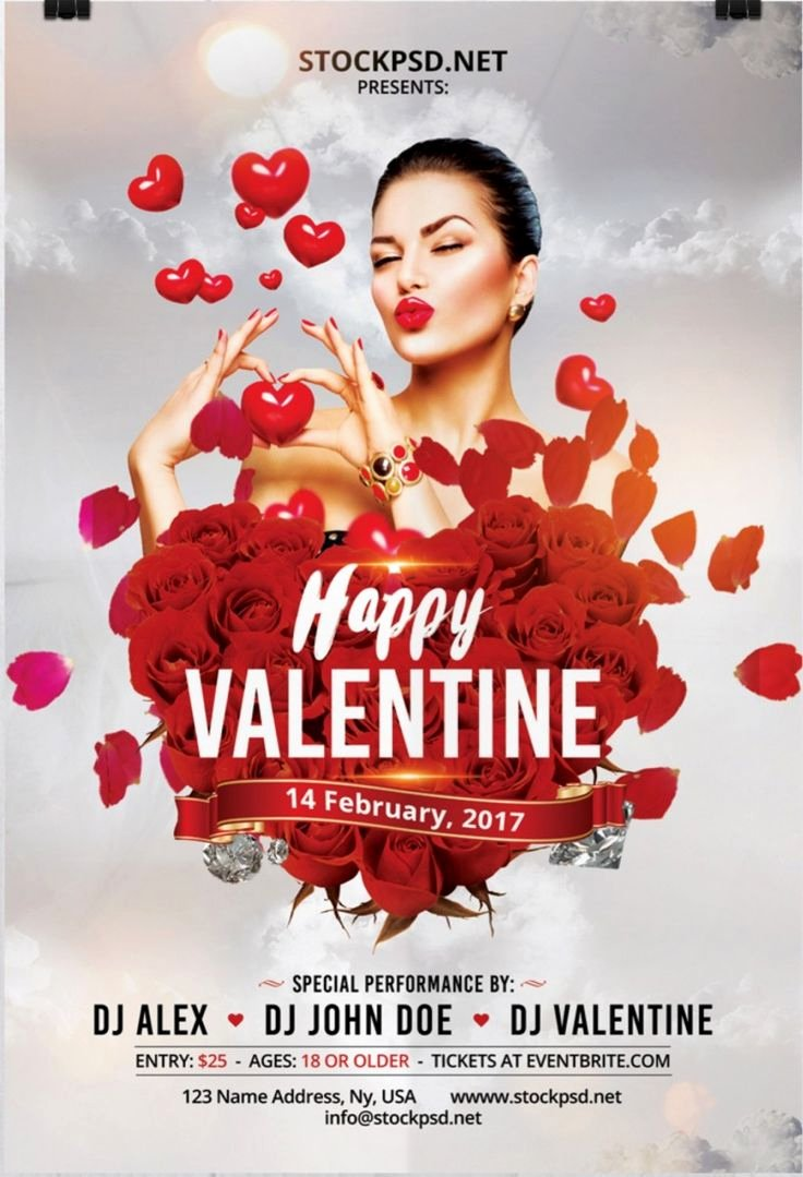 Valentines Day Flyer Template Free Beautiful Happy Valentine Day – Download Free Psd Flyer Template Free Flyer Template