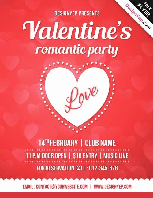 Valentines Day Flyer Template Free Best Of 20 Lovely & Free Valentine Flyer Templates