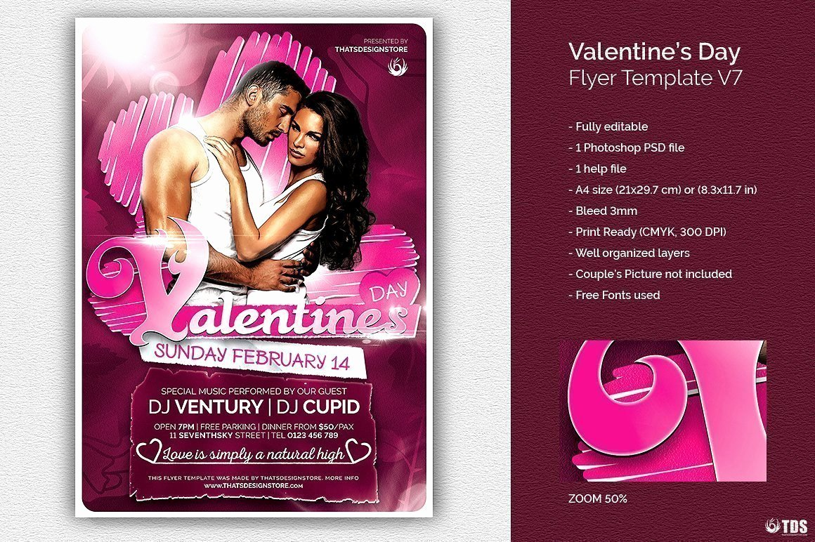 Valentines Day Flyer Template Free Best Of Valentines Day Flyer Template Psd Design for Photoshop V7
