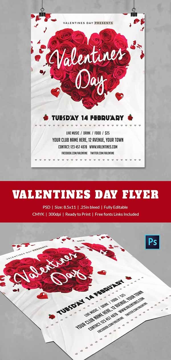 Valentines Day Flyer Template Free Elegant 25 Free Valentine S Day Templates Flyer Invitations Greeting Cards