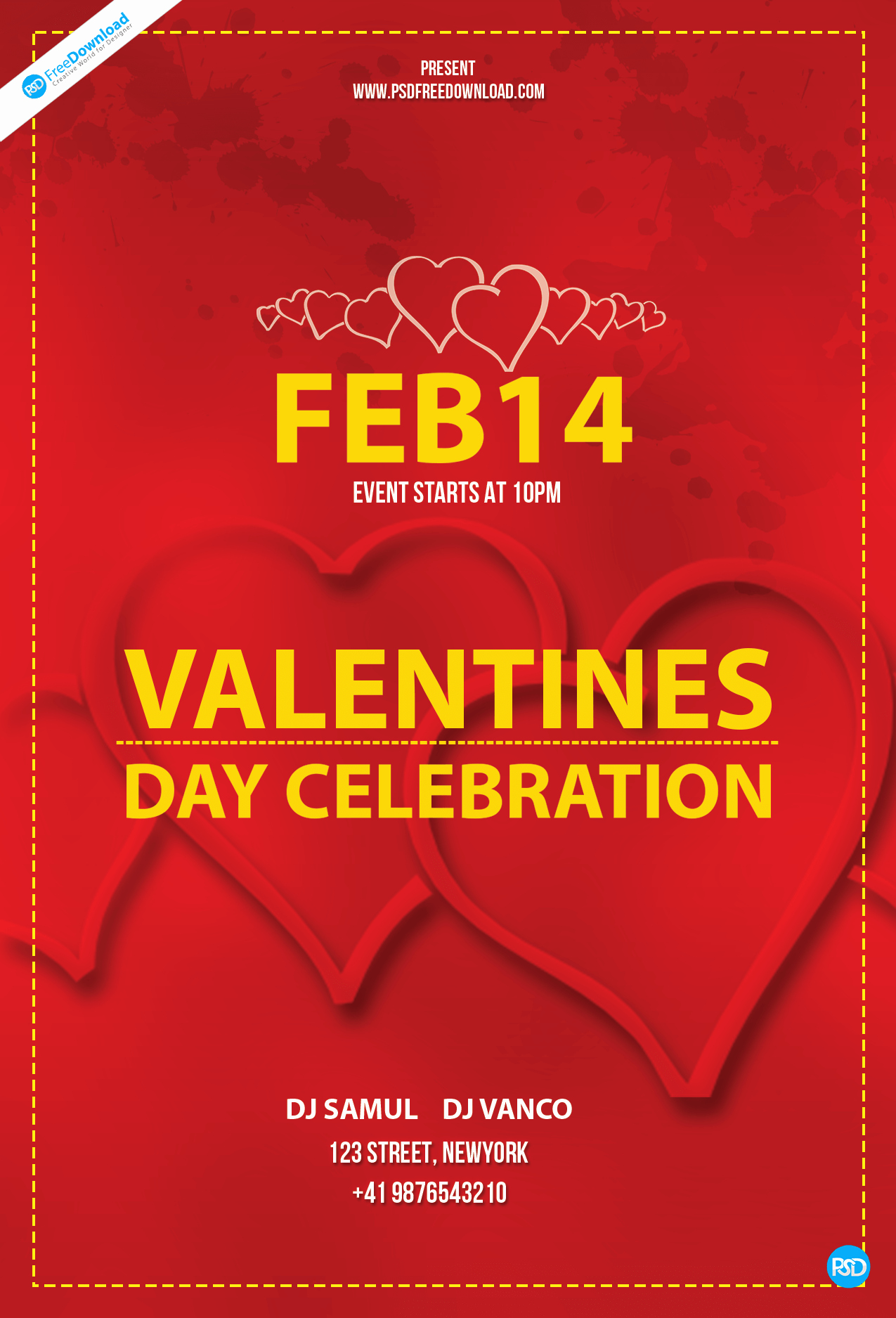 Valentines Day Flyer Template Free Elegant Free Valentines Day Flyer Template