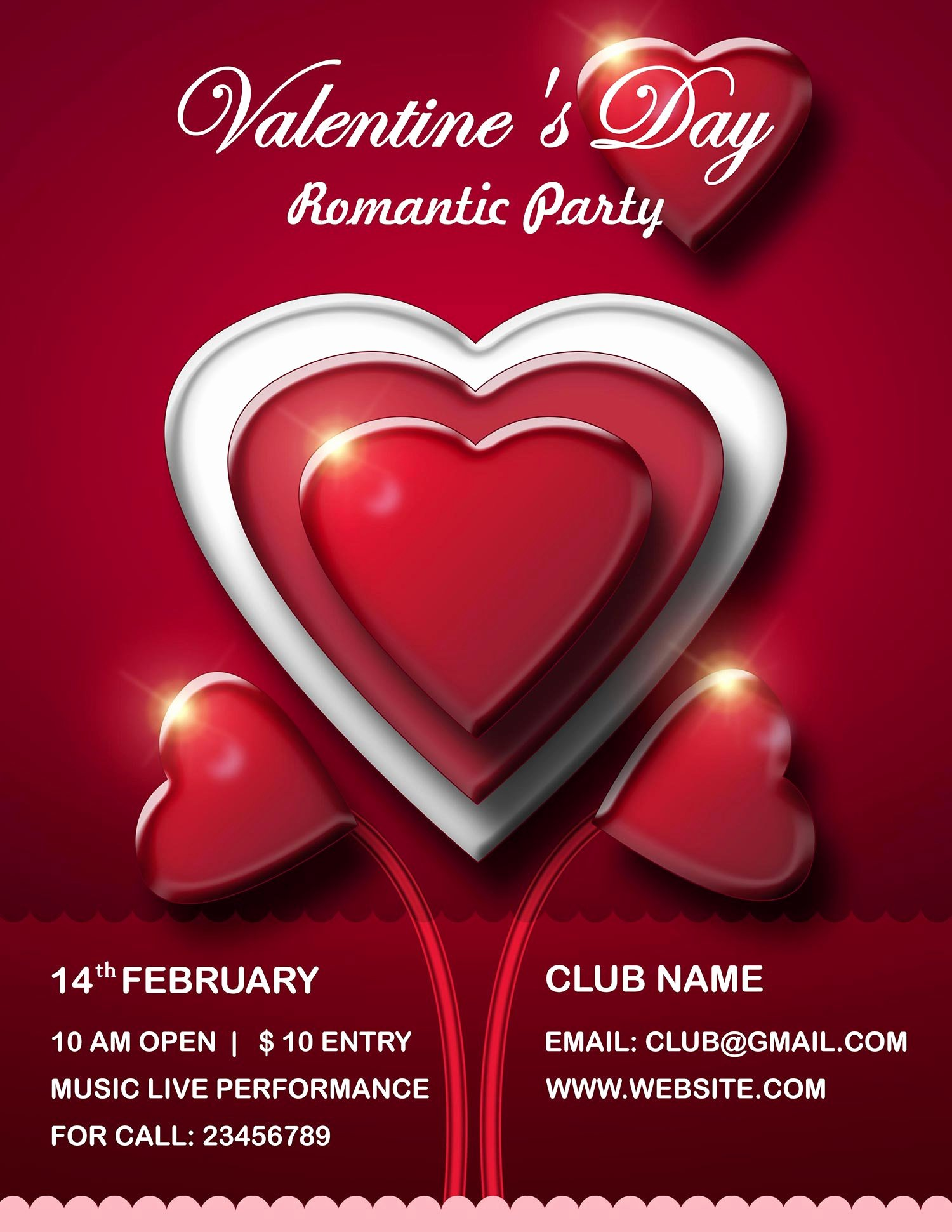 Valentines Day Flyer Template Free Elegant Valentine S Day Flyer Psd Templates Free Download