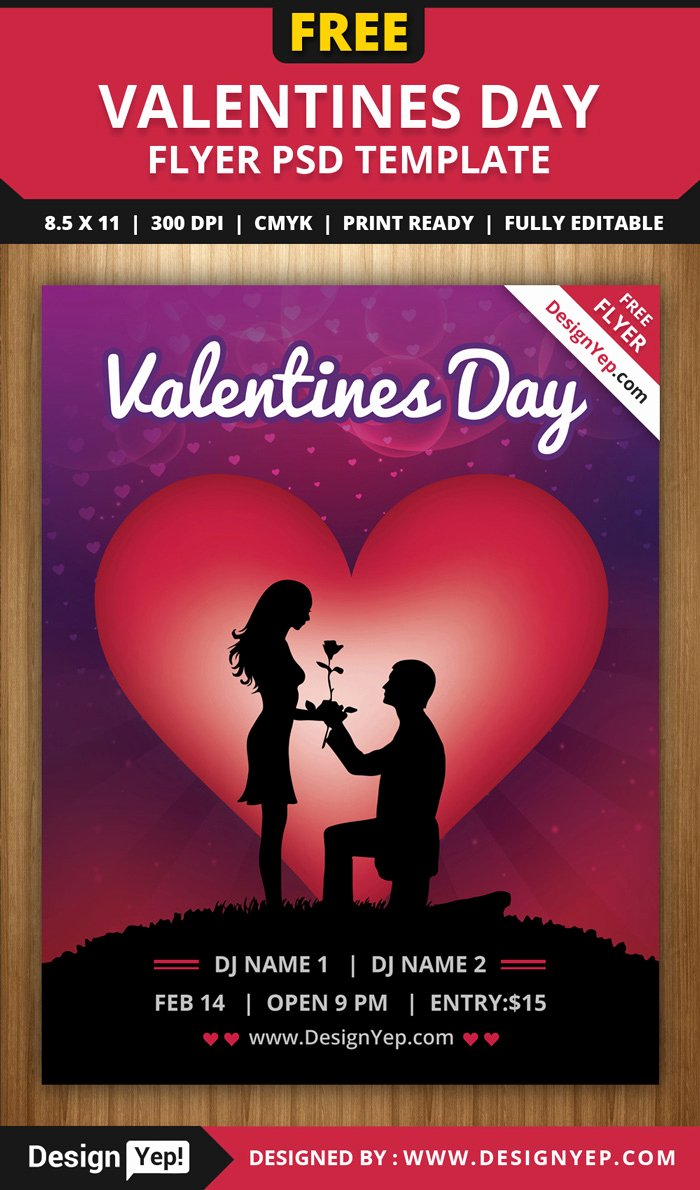 Valentines Day Flyer Template Free Inspirational 55 Free Party & event Flyer Psd Templates Designyep