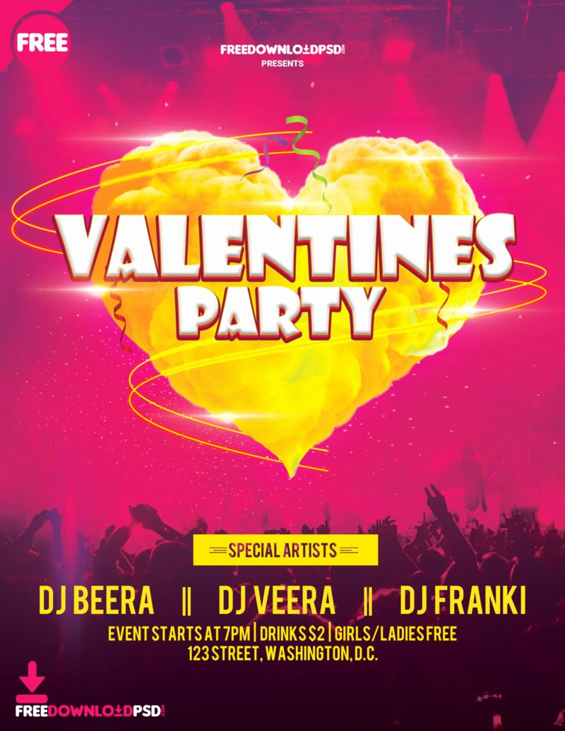 Valentines Day Flyer Template Free Inspirational [free Download] Valentines Day Party