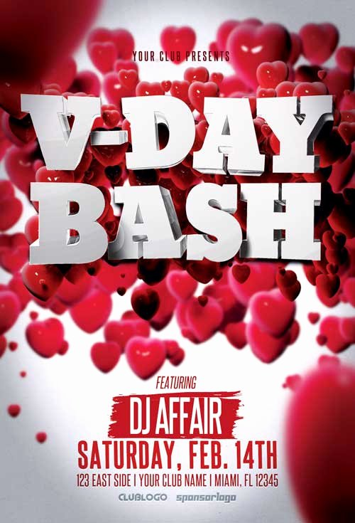 Valentines Day Flyer Template Free Lovely Valentine S Day Party Flyer Template