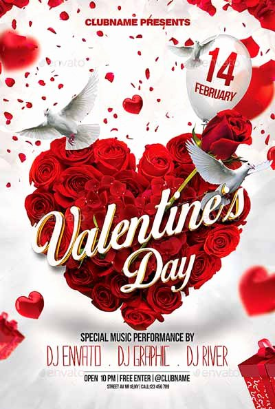 Valentines Day Flyer Template Free Luxury top 20 Valentine Flyers Templates Dussk Design