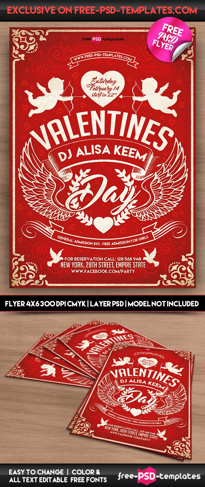 Valentines Day Flyer Template Free New Valentines Day Free Psd Flyer Template