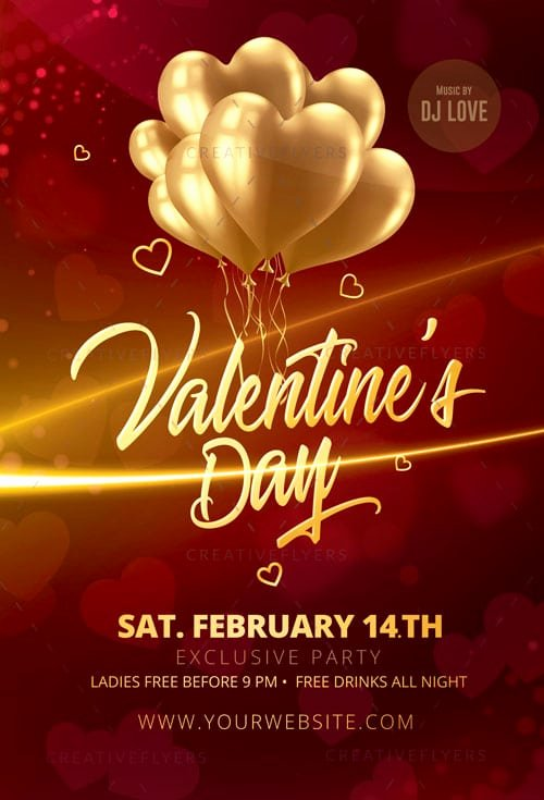 Valentines Day Flyer Template Free Unique Elegant Valentines Day Flyer Psd Creative Flyers