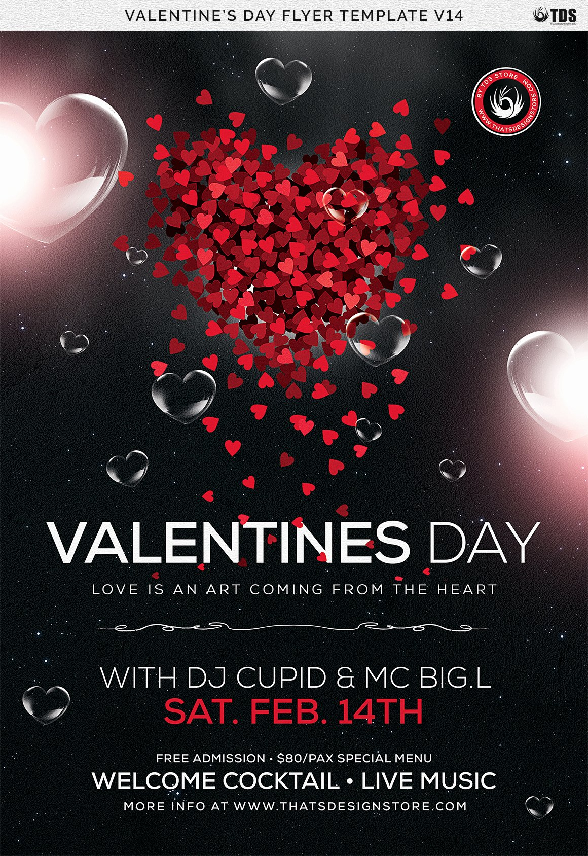 Valentines Flyer Templates Free Beautiful Valentines Day Flyer Template V14