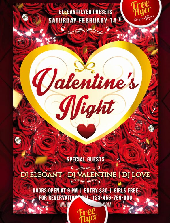 Valentines Flyer Templates Free Best Of 25 Psd Flyers Elements for St Valentine S Day
