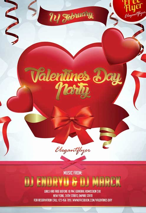 Valentines Flyer Templates Free Best Of Free Valentines Day Party Flyer Psd Template Download