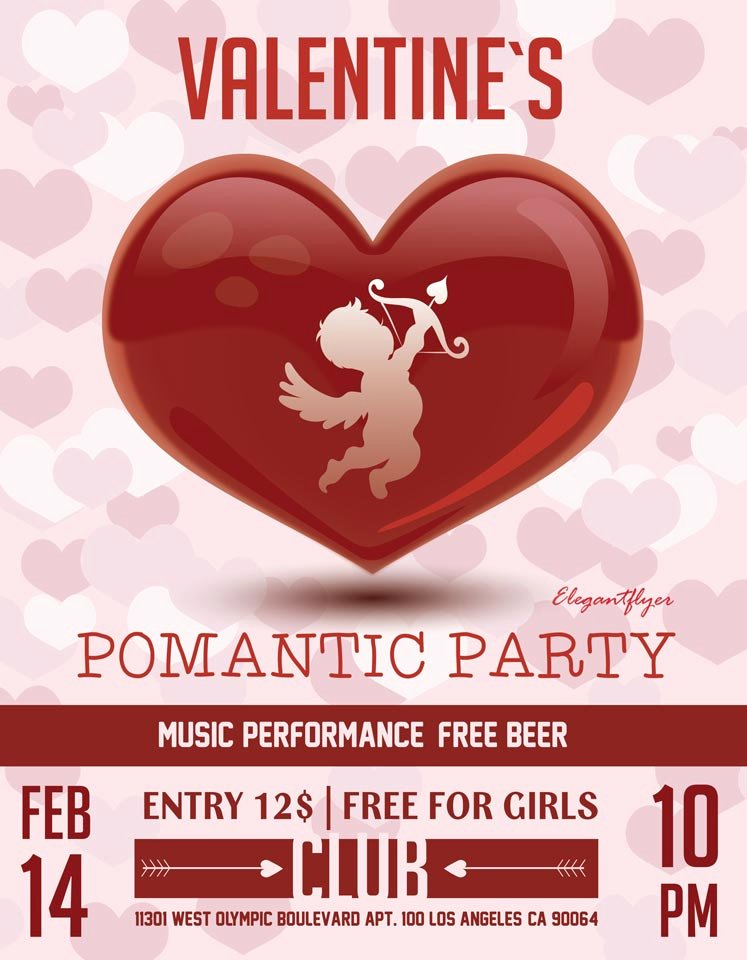 Valentines Flyer Templates Free Best Of Valentine S Day – Free Flyer Psd Template Cover