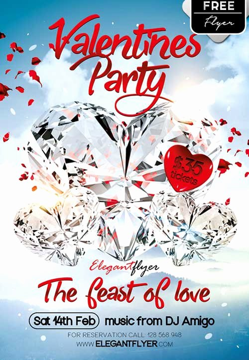 Valentines Flyer Templates Free Elegant Download Valentine Party Free Psd Flyer Template