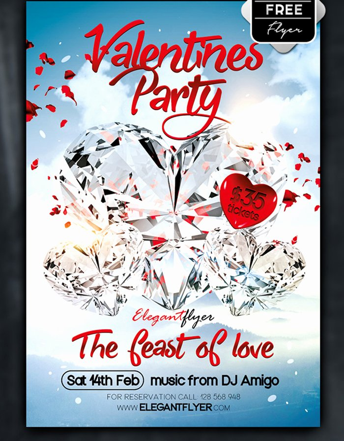 Valentines Flyer Templates Free Fresh 26 Free Valentines Day Flyer Templates for Download
