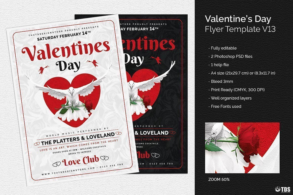 Valentines Flyer Templates Free Fresh Valentine S Day Flyer Template V13