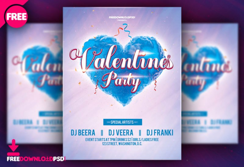 Valentines Flyer Templates Free Inspirational Happy Valentine S Day Flyer Template