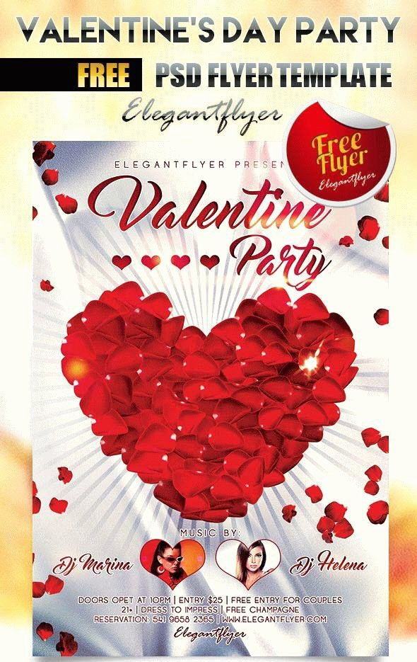 Valentines Flyer Templates Free New 25 Free and Creative Valentine's Day Design Templates for