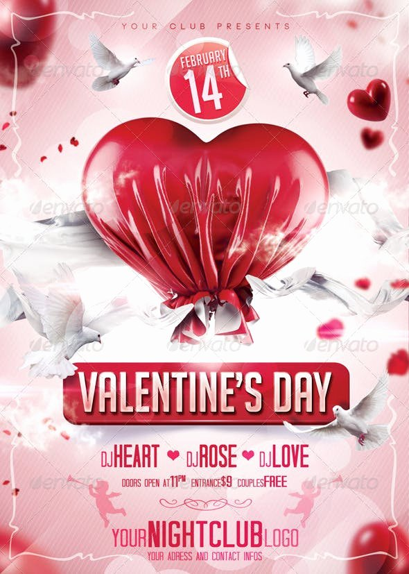 Valentines Flyer Templates Free Unique Valentines Day Flyer by Qbmix