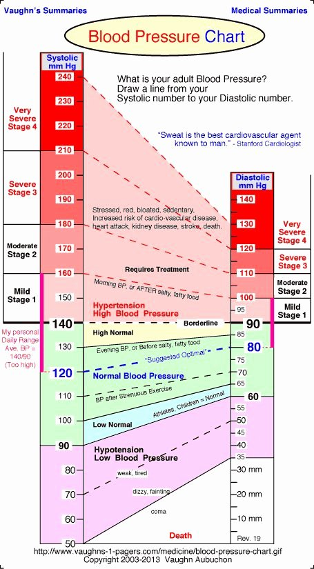 Vaughn Blood Pressure Chart Unique Charts Blood Pressure and Blood On Pinterest