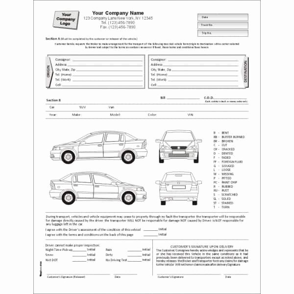 Vehicle Condition Report Template Fresh 5 Vehicle Condition Reports Word Excel Templates
