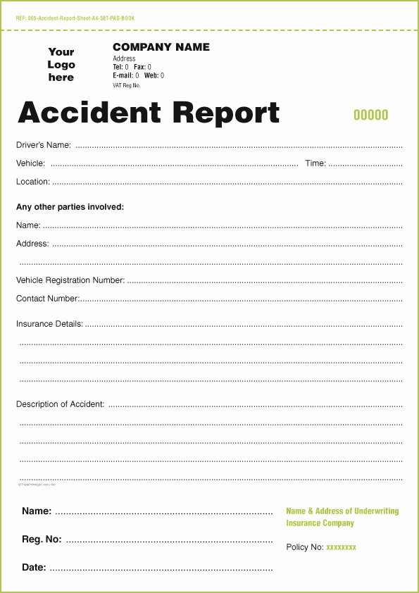 Vehicle Condition Report Template Fresh Templates for Accident Report Book and Vehicle Condition Report Books In Ireland