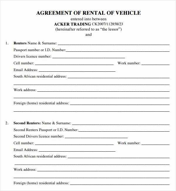 Vehicle Lease Agreement Pdf Fresh House Lease Agreement 7 Free Pdf Doc Download