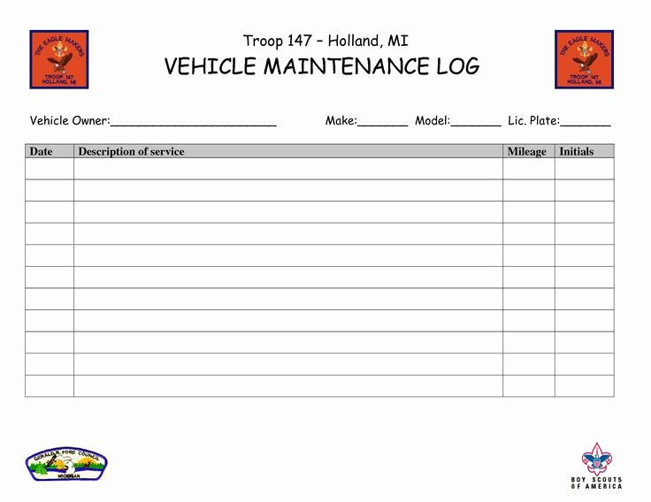 Vehicle Maintenance Log Template Elegant Vehicle Maintenance Log Book Template Ewolf software Automotivewolfm