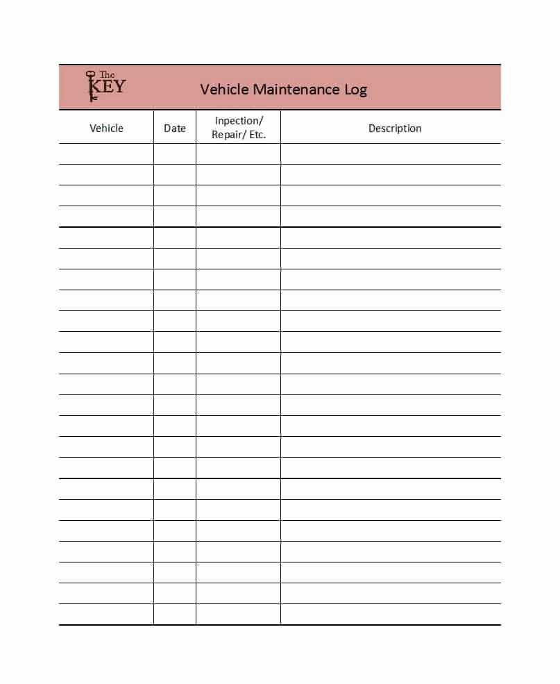 Vehicle Maintenance Log Template New 40 Printable Vehicle Maintenance Log Templates Template Lab
