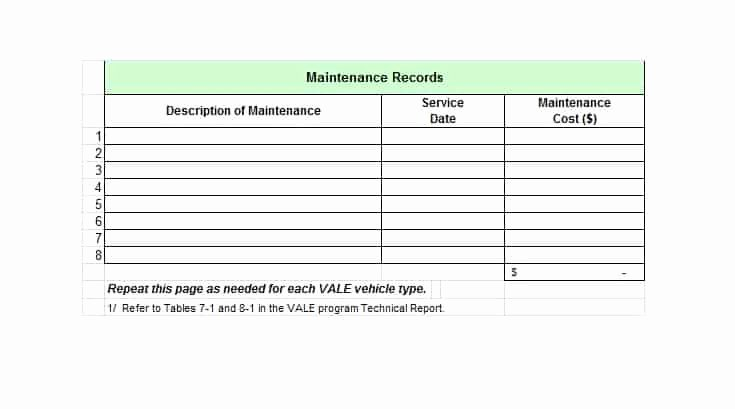Vehicle Maintenance Log Template Unique 40 Printable Vehicle Maintenance Log Templates Template Lab