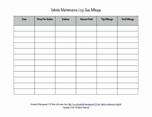 Vehicle Maintenance Log Template Unique Free Printable Vehicle Maintenance Log why You Should Have E In Your Car