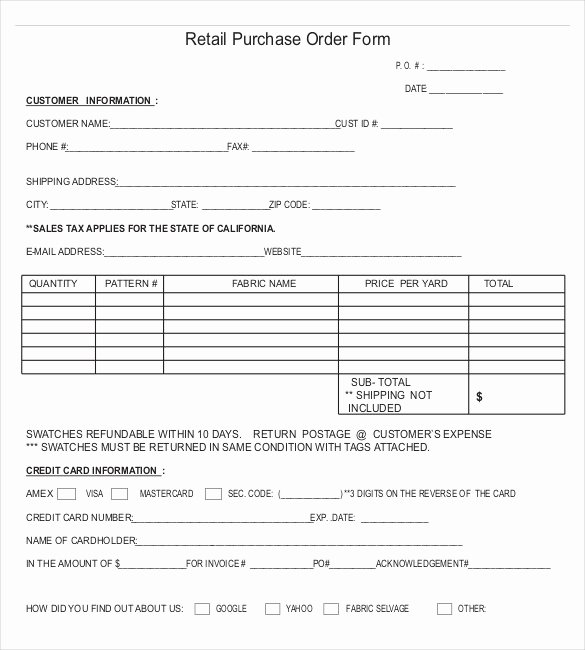 Vehicle Purchase order Template Awesome Purchase order Templates – 17 Free Sample Example format Download