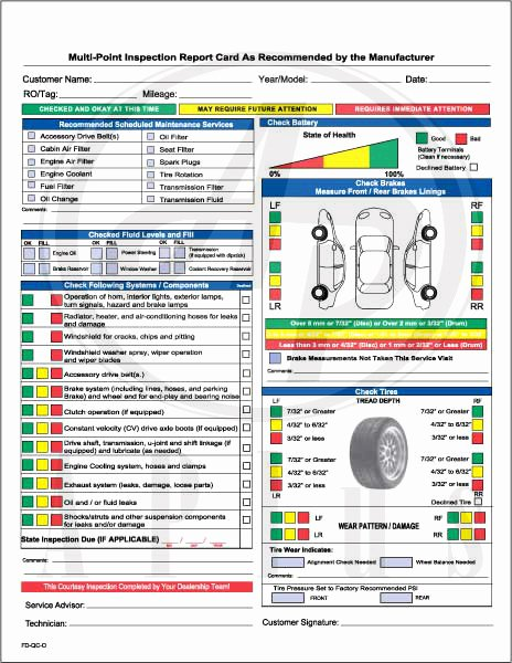 Vehicle Safety Inspection Checklist Template Unique by Bimmy Payne