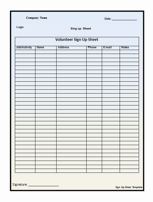 Vehicle Sign Out Sheet Fresh Free Sign In Sign Up Sheet Templates Excel Word Template Section