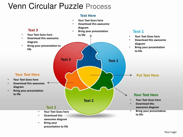 Venn Diagram Powerpoint Template Fresh Venn Circular Puzzle Process Powerpoint Templates