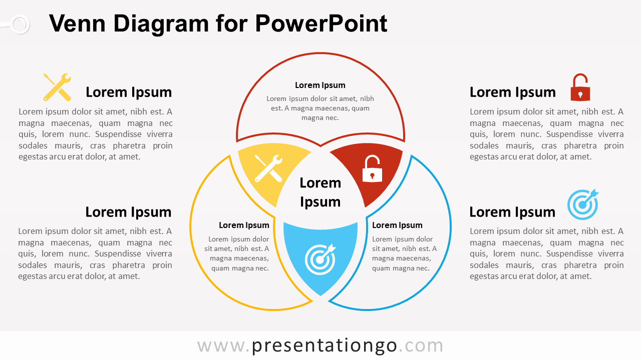 Venn Diagram Powerpoint Template New Venn Diagram for Powerpoint Presentationgo