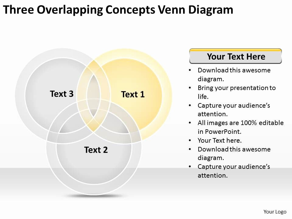 Venn Diagram Powerpoint Template Unique Business Flowchart Examples Three Overlapping Concepts Venn Diagram Powerpoint Templates