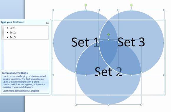 Venn Diagram Template Powerpoint Fresh How to Create A Venn Diagram In Powerpoint 2010