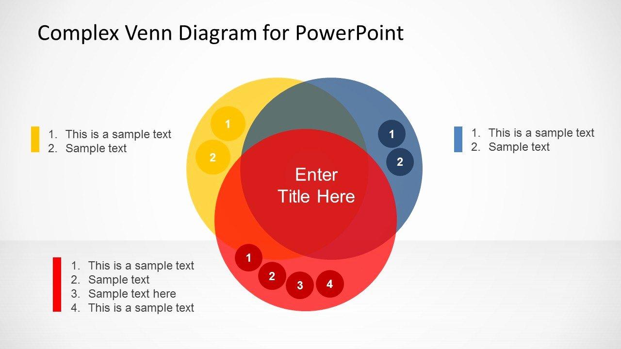 Venn Diagram Template Powerpoint Inspirational Plex Venn Diagram Design for Powerpoint Slidemodel