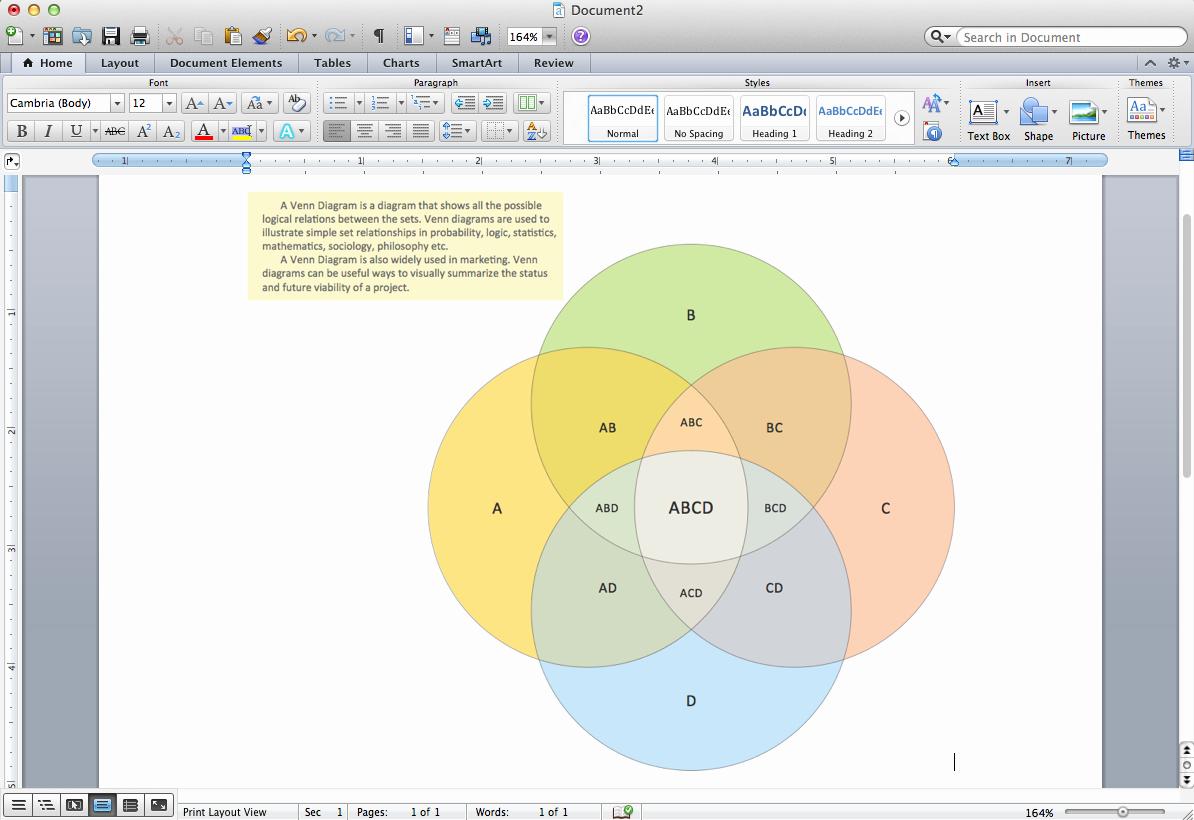 Venn Diagram Template Word Awesome Venn Diagram Template for Word